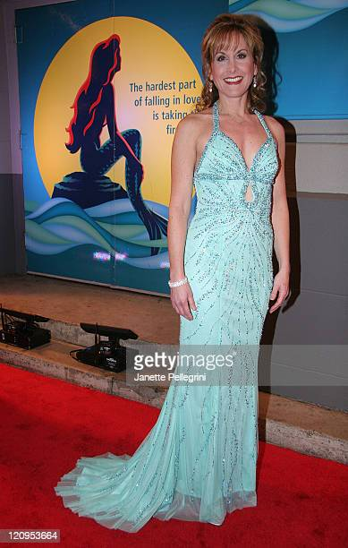Actress Jodi Benson the voice of Ariel in the 1989 filmarrives at opening night of 'The Little Mermaid' on Broadway at the LuntFontanne Theater on...