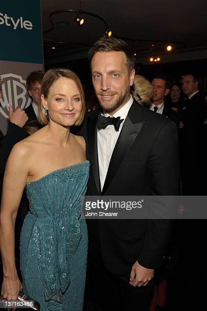 Actress Jodi Foster and Editor of InStyle Ariel Foxman attend the InStyle and Warner Bros 69th Annual Golden Globe Awards PostParty at The Beverly...