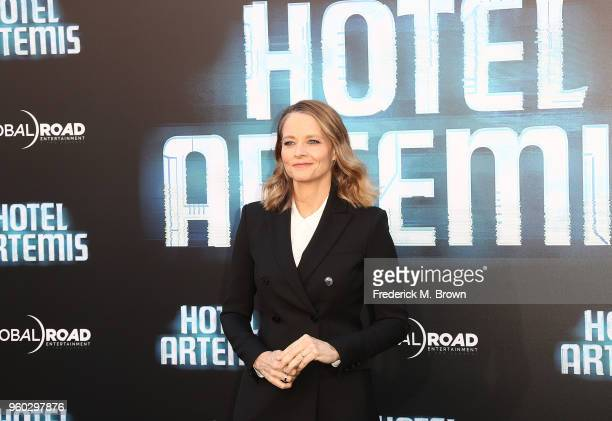Actress Jodi Foster attends Global Road Entertainment's 'Hotel Artemis' Premiere at the Regency Village Theatre on May 19 2018 in Westwood California