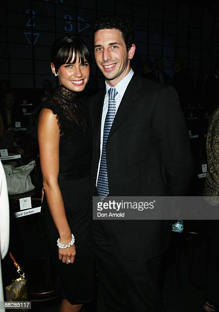 Actress Jodi Gordon and Ryan Stokes arrive at the David Jones Winter 2008 Collection Launch A Japanese Story at the Royal Hall of Industries Moore...