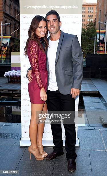 Actress Jodi Gordon and Sports personality Braith Anasta attend the Camp Quality Pancake Breakfast in Martin Place to launch the Camp Quality Supper...