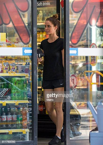 Actress Jodi Gordon is seen at a convenience store on February 22 2016 in Sydney Australia
