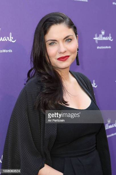 Actress Jodi Lyn O'Keefe arrives at Hallmark's When You Care Enough to Put It Into Words Launch Event on July 30 2018 in Los Angeles California