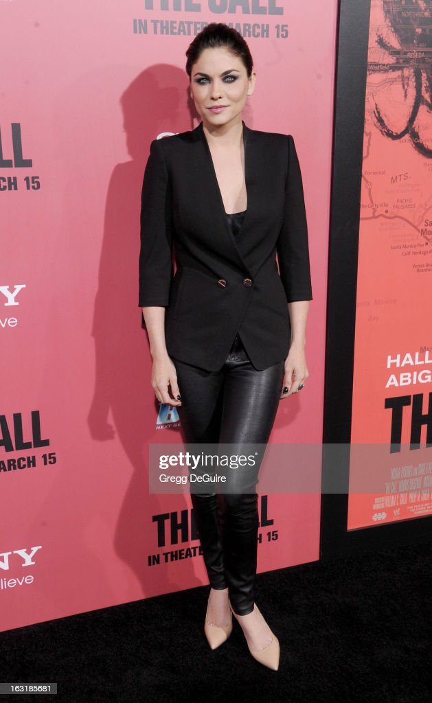 Actress Jodi Lyn O'Keefe arrives at the Los Angeles premiere of 'The Call' at ArcLight Hollywood on March 5, 2013 in Hollywood, California.