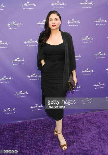Actress Jodi Lyn O'Keefe attends Hallmark's Put In Into Words campaign launch party at Lombardi House on July 30 2018 in Los Angeles California