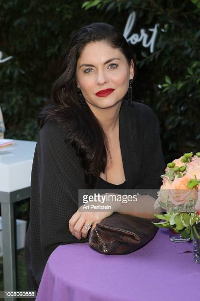 Actress Jodi Lyn O'Keefe attends Hallmark's When You Care Enough to Put It Into Words Launch Event on July 30 2018 in Los Angeles California