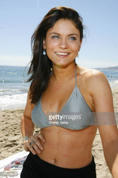 Actress Jodi Lyn O'Keefe attends Los Angeles Confidential Magazine and French Connection's summer celebration to benefit the Art Of Elysium at French...