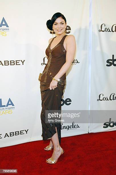 Actress Jodi Lyn O'Keefe attends The Envelope Please Oscar Viewing Party to Benefit APLA on February 24 2008 in West Hollywood California