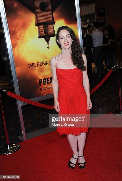 "Actress Jodi Lynn Thomas arrives for the Premiere Of AMC's ""Preacher"" held at Regal LA Live Stadium 14 on May 14, 2016 in Los Angeles, California."