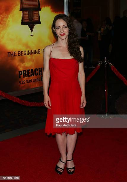 "Actress Jodi Lynn Thomas attends the premiere of AMC's ""Preacher"" at Regal LA Live Stadium 14 on May 14, 2016 in Los Angeles, California."