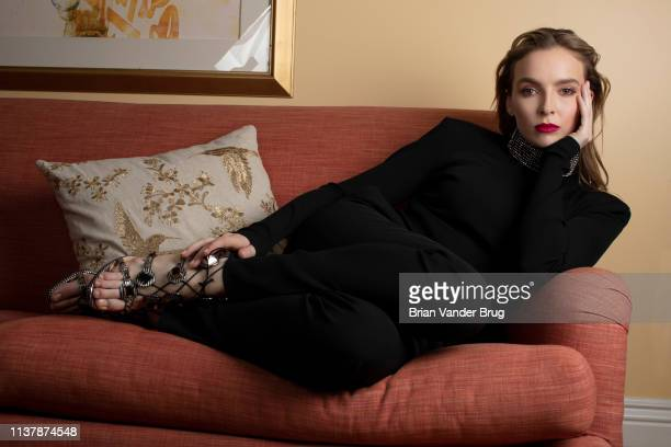 Actress Jodie Comer is photographed for Los Angeles Times on February 9, 2019 in Pasadena, California. PUBLISHED IMAGE. CREDIT MUST READ: Brian van...
