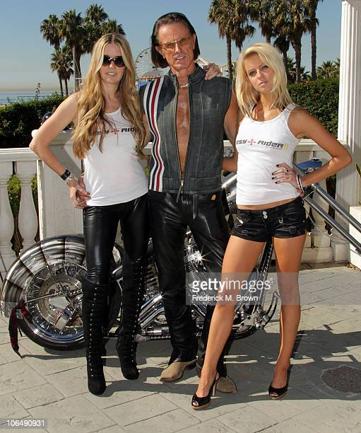 Actress Jodie Fisher actor Phil Pitzer and actress Brittney Shelstad pose for the film 'The Easy Rider The Ride Back' during opening day of the 2010...