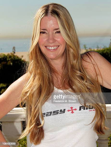 Actress Jodie Fisher poses for the film 'The Easy Rider The Ride Back' during opening day of the 2010 American Film Market at the Loews Santa Monica...