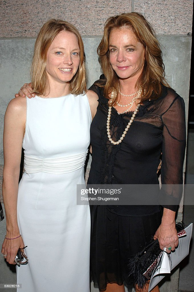 Actress Jodie Foster and actress Stockard Channing attend The 2005 Tony Awards Party & 'The Julie Harris Award', which honored Stockard Channing, at the Skirball Center on June 5, 2005 in Los Angeles, California.