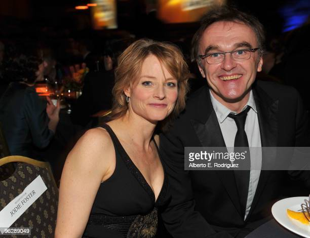 Actress Jodie Foster and Director Danny Boyle in the audience during the 62nd Annual Directors Guild Of America Awards at the Hyatt Regency Century...