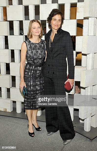Actress Jodie Foster and Photographer Alexandra Hedison both wearing Bottega Veneta attend the Hammer Museum 14th Annual Gala In The Garden with...