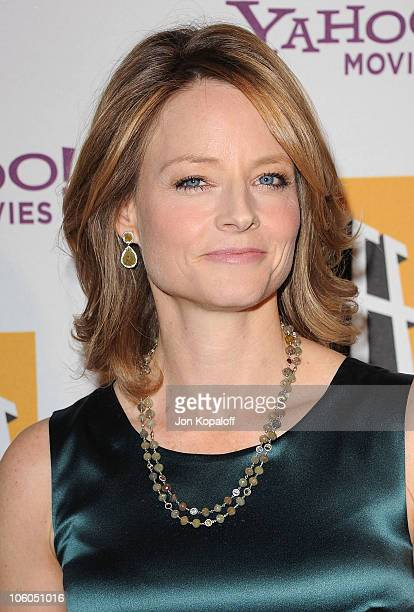 Actress Jodie Foster arrives at the 14th Annual Hollywood Awards Gala held at The Beverly Hilton hotel on October 25 2010 in Beverly Hills California