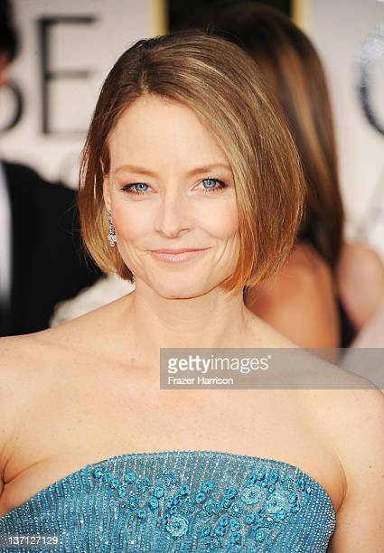 Actress Jodie Foster arrives at the 69th Annual Golden Globe Awards held at the Beverly Hilton Hotel on January 15 2012 in Beverly Hills California