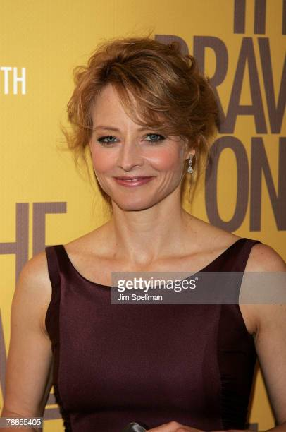 Actress Jodie Foster arrives at The Brave One Premiere at the Rose Theater at Time Warner Center on September 10 2007 in New York City