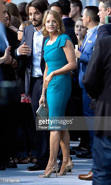 Actress Jodie Foster arrives at the Premiere of TriStar Pictures' Elysium oat Regency Village Theatre on August 7 2013 in Westwood California