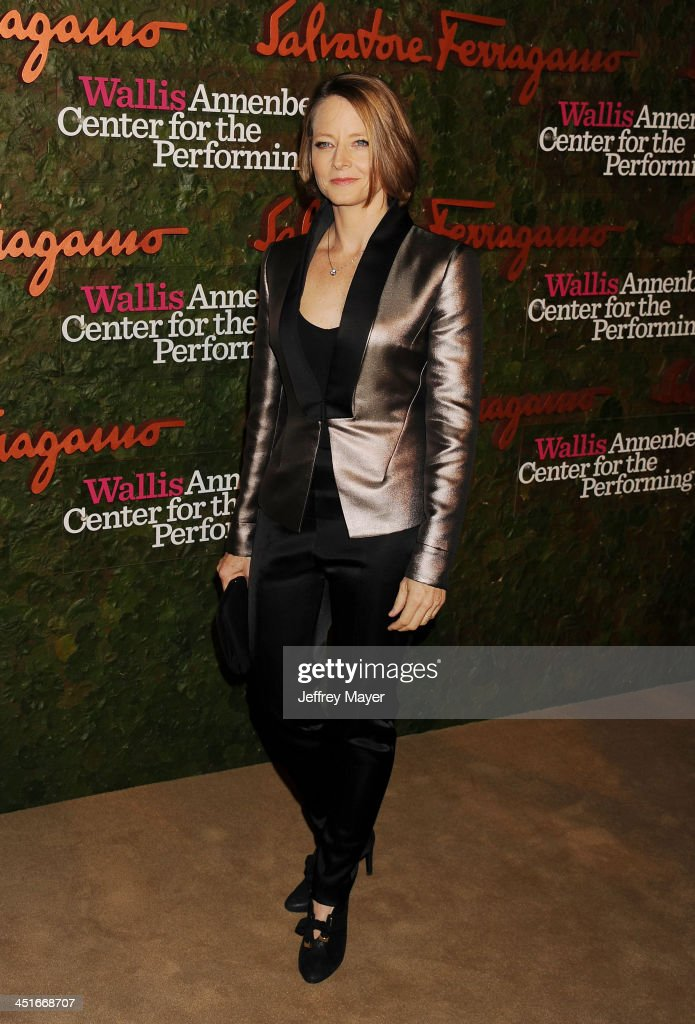 Actress Jodie Foster arrives at the Wallis Annenberg Center For The Performing Arts Inaugural Gala at Wallis Annenberg Center for the Performing Arts on October 17, 2013 in Beverly Hills, California.