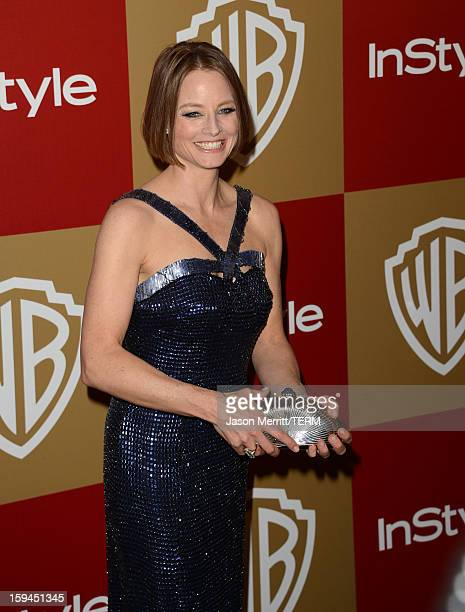 Actress Jodie Foster attends the 14th Annual Warner Bros And InStyle Golden Globe Awards After Party held at the Oasis Courtyard at the Beverly...
