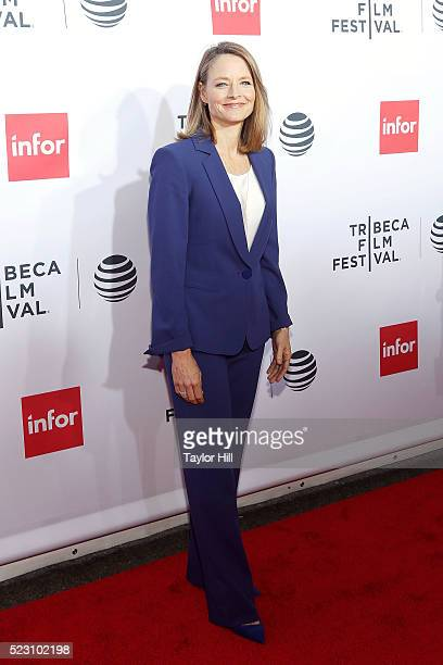 Actress Jodie Foster attends the 40th anniversary screening of 'Taxi Driver' at Beacon Theatre during the 2016 Tribeca Film Festival on April 21 2016...