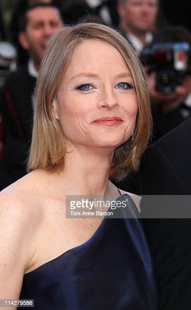 Actress Jodie Foster attends 'The Beaver' Premiere during the 64th Cannes Film Festival at the Palais des Festivals on May 17 2011 in Cannes France