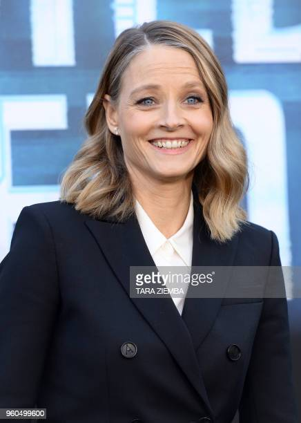 Actress Jodie Foster attends the Los Angeles premiere of 'Hotel Artemis' on May 19, 2018 in Westwood Village, California.