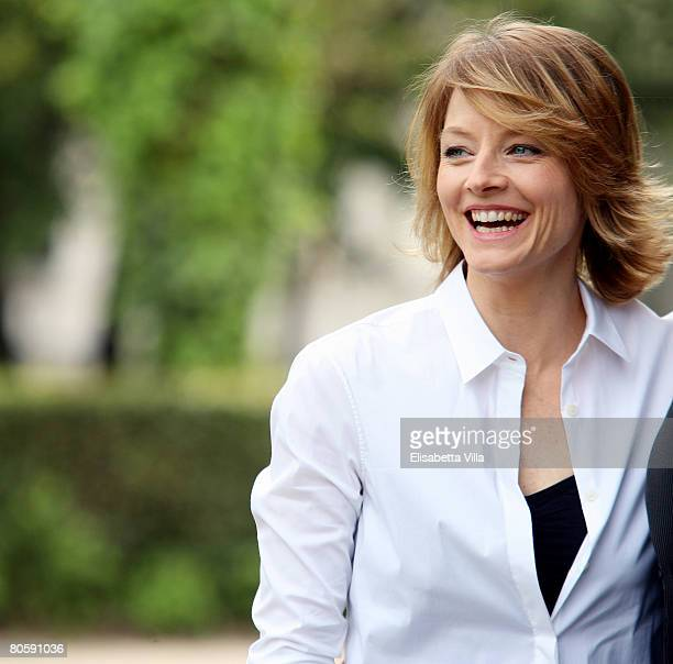 Actress Jodie Foster attends the 'Nim's Island' photocall at Villa Borghese on April 10, 2008 in Rome, Italy.