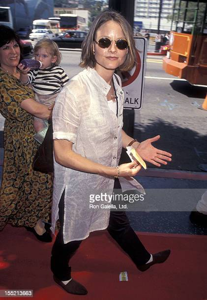 Actress Jodie Foster attends the 'Pocahontas' Hollywood Premiere on June 11 1995 at El Capitan Theatre in Hollywood California