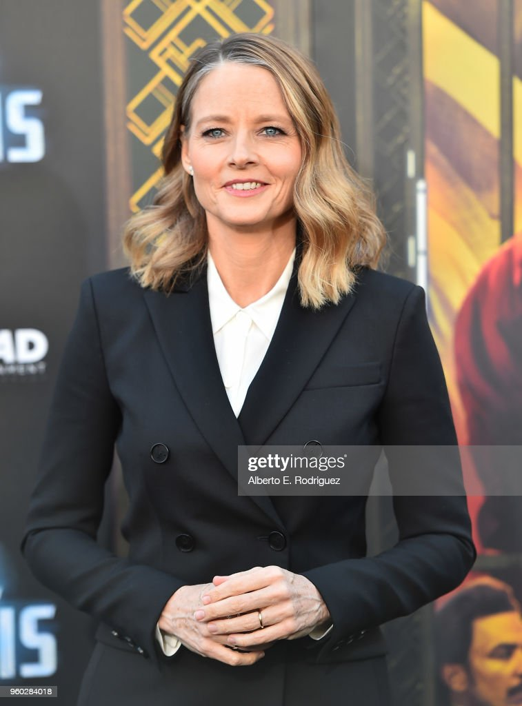 Actress Jodie Foster attends the premiere of Global Road Entertainment's 'Hotel Artemis' at Regency Village Theatre on May 19, 2018 in Westwood, California.