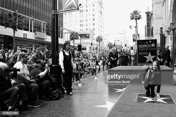 Actress Jodie Foster is honored with star on The Hollywood Walk Of Fame on May 4 2016 in Hollywood California