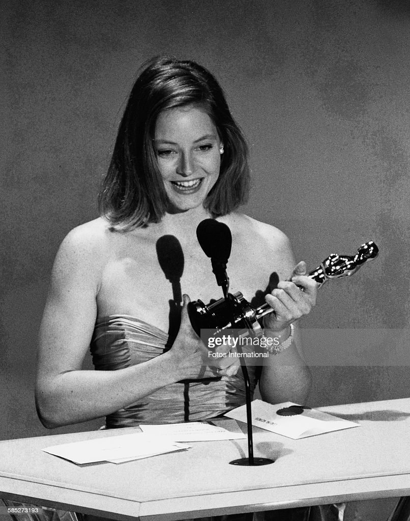 jodie foster pictures getty images actress jodie foster on stage receiving her best actress oscar for the film the accused