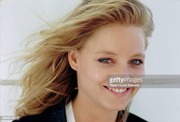 """Actress Jodie Foster poses for a photo in June 1987 in Vancouver, Canada. Foster is promoting her movie, """"The Accused."""""""