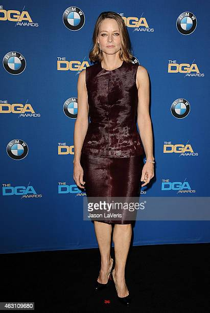 Actress Jodie Foster poses in the press room at the 67th annual Directors Guild of America Awards at the Hyatt Regency Century Plaza on February 7...