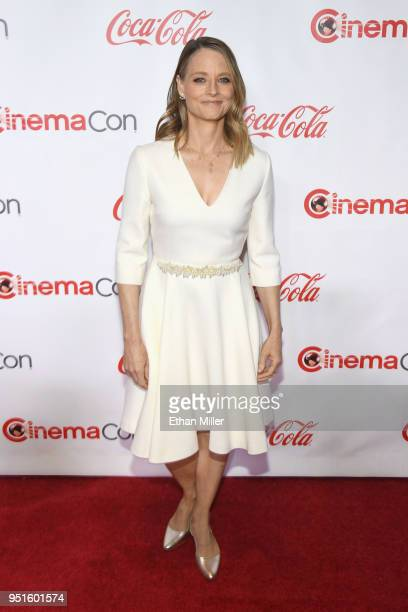 Actress Jodie Foster recipient of the Lifetime Achievement Award attends the CinemaCon Big Screen Achievement Awards brought to you by the CocaCola...