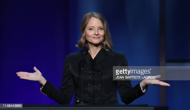 Actress Jodie Foster speaks on stage during the 47th American Film Institute Life Achievement Award Gala at the Dolby theatre in Hollywood on June 6,...