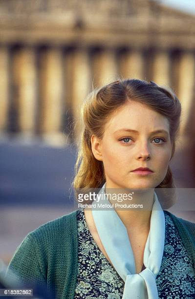 Actress Jodie Foster stars in the 1984 French film Le Sang des Autres The movie directed by Claude Chabrol and based on the novel by Simone de...