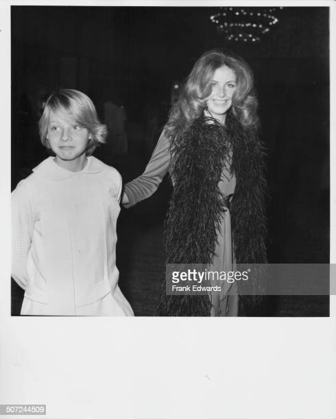 Actress Jodie Foster with her older sister Cindy attending an ABC Television party at Century Plaza Hotel Los Angeles CA May 10th 1974