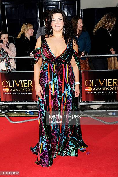 Actress Jodie Prenger attends The Olivier Awards 2011 at Theatre Royal on March 13 2011 in London England