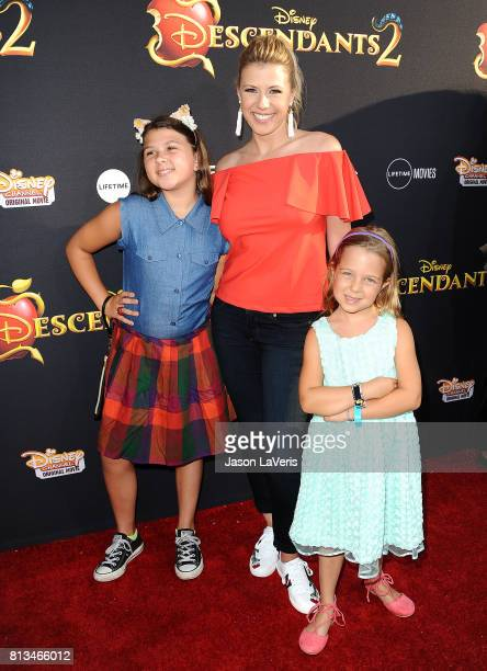Actress Jodie Sweetin and daughters Zoie Laurel May Herpin and Beatrix Carlin Sweetin Coyle attend the premiere of Descendants 2 at The Cinerama Dome...