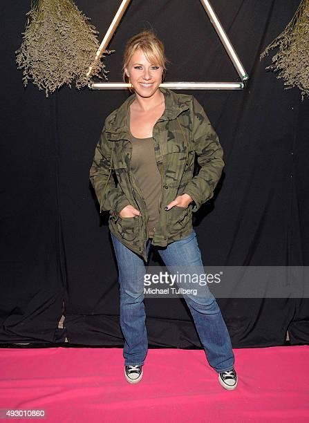 Actress Jodie Sweetin attends the opening night of The Alone Experience Absorption Halloween Haunt on October 16 2015 in Los Angeles California