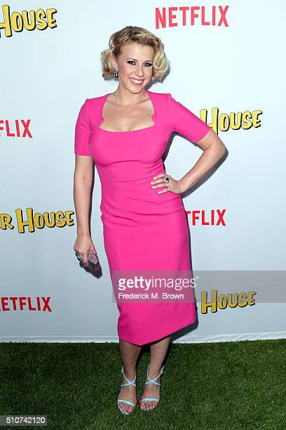 Actress Jodie Sweetin attends the premiere of Netflix's Fuller House at Pacific Theatres at The Grove on February 16 2016 in Los Angeles California