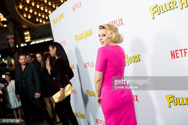 Actress Jodie Sweetin attends the premiere of Netflix's 'Fuller House' at Pacific Theatres at The Grove on February 16 2016 in Los Angeles California