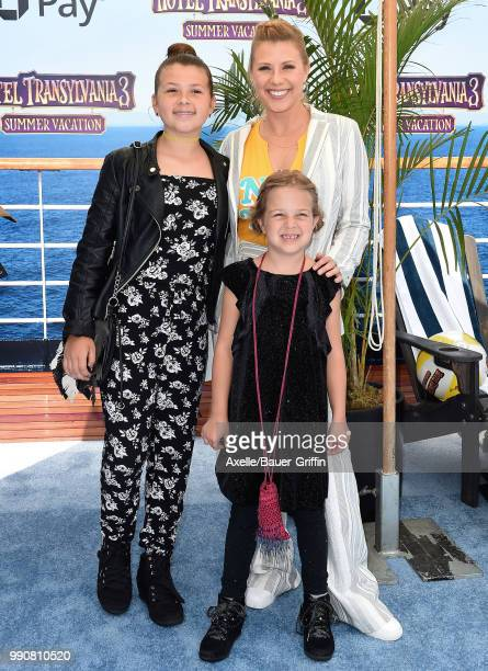 Actress Jodie Sweetin daughters Janice Sweetin and Sam Sweetin attend Columbia Pictures and Sony Pictures Animation's World Premiere of 'Hotel...