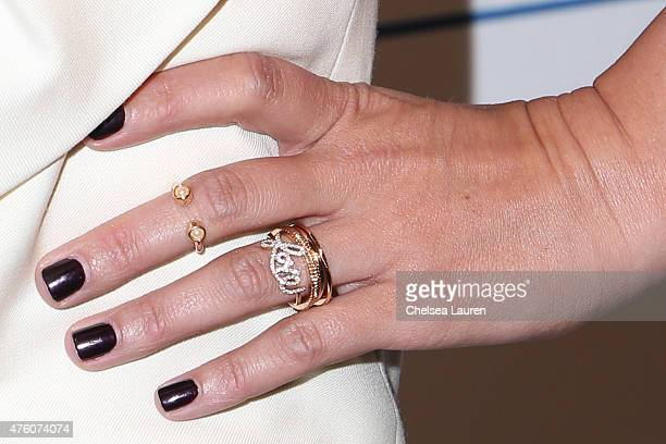 Actress Jodie Sweetin jewelry detail attends the 'Cool Comedy Hot Cuisine to benefit the Scleroderma Research Foundation at the Beverly Wilshire Four...