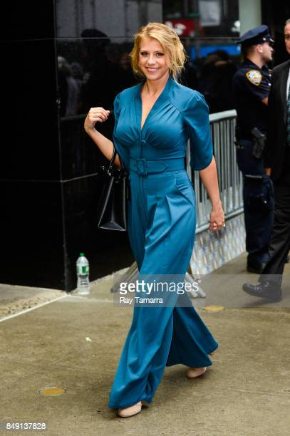Actress Jodie Sweetin leaves the Good Morning America taping at the ABC Times Square Studios on September 18 2017 in New York City