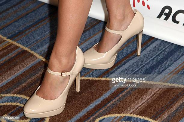 Actress Jodie Sweetin shoe detail attends the Cool Comedy Hot Cuisine Benefit held at the Regent Beverly Wilshire Hotel on June 5 2015 in Beverly...