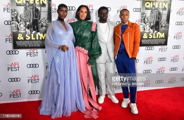 Actress Jodie TurnerSmith director/producer Melina Matsoukas actor and Executive Producer Daniel Kaluuya and Writer/Producer Lena Waithe arrive for...